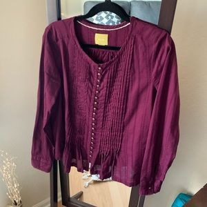NWOT Maeve Women's Long Sleeve Blouse - M